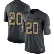 Wholesale Cheap Nike Bills #20 Frank Gore Black Men's Stitched NFL Limited 2016 Salute To Service Jersey