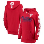Wholesale Cheap Philadelphia Phillies G-III 4Her by Carl Banks Women's Extra Innings Pullover Hoodie Red