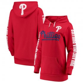 Wholesale Cheap Philadelphia Phillies G-III 4Her by Carl Banks Women\'s Extra Innings Pullover Hoodie Red