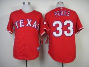 Wholesale Cheap Rangers #33 Martin Perez Red Cool Base Stitched MLB MLB Jersey