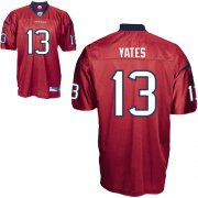 Wholesale Cheap Texans #13 T.J. Yates Red Stitched NFL Jersey