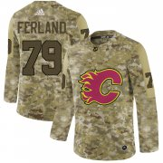 Wholesale Cheap Adidas Flames #79 Michael Ferland Camo Authentic Stitched NHL Jersey