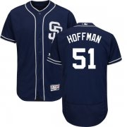 Wholesale Cheap Padres #51 Trevor Hoffman Navy Blue Flexbase Authentic Collection Stitched MLB Jersey