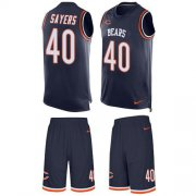 Wholesale Cheap Nike Bears #40 Gale Sayers Navy Blue Team Color Men's Stitched NFL Limited Tank Top Suit Jersey