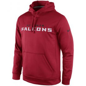 Wholesale Cheap Atlanta Falcons Nike KO Wordmark Performance Hoodie Red