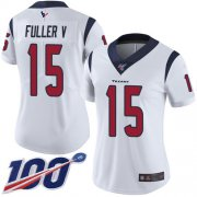 Wholesale Cheap Nike Texans #15 Will Fuller V White Women's Stitched NFL 100th Season Vapor Limited Jersey