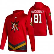 Wholesale Cheap Vegas Golden Knights #81 Jonathan Marchessault Adidas Reverse Retro Pullover Hoodie Red