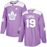 Wholesale Cheap Adidas Maple Leafs #19 Joffrey Lupul Purple Authentic Fights Cancer Stitched Youth NHL Jersey