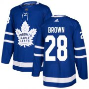 Wholesale Cheap Adidas Maple Leafs #28 Connor Brown Blue Home Authentic Stitched NHL Jersey