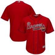 Wholesale Cheap Atlanta Braves Majestic 2019 Alternate Official Cool Base Team Jersey Scarlet