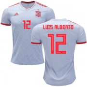 Wholesale Cheap Spain #12 Luis Alberto Away Soccer Country Jersey