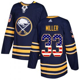 Wholesale Cheap Adidas Sabres #33 Colin Miller Navy Blue Home Authentic USA Flag Stitched NHL Jersey