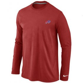 Wholesale Cheap Nike Buffalo Bills Sideline Legend Authentic Logo Long Sleeve T-Shirt Red