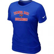 Wholesale Cheap Women's Nike Tampa Bay Buccaneers Heart & Soul NFL T-Shirt Blue