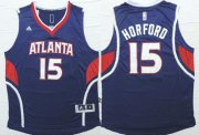 Wholesale Cheap Atlanta Hawks #15 Al Horford Revolution 30 Swingman 2014 New Navy Blue Jersey