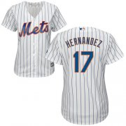 Wholesale Cheap Mets #17 Keith Hernandez White(Blue Strip) Home Women's Stitched MLB Jersey
