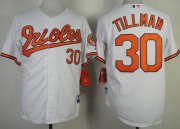 Wholesale Orioles #30 Chris Tillman White Cool Base Stitched Baseball Jersey