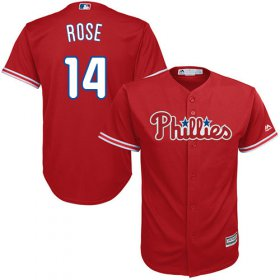 Wholesale Cheap Phillies #14 Pete Rose Red Cool Base Stitched Youth MLB Jersey