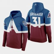 Wholesale Cheap Adidas Colorado Avalanche #31 Philipp Grubauer Men's Burgundy 2020 Stadium Series Hoodie