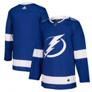 Wholesale Cheap Adidas Lightning Blank Blue Home Authentic Stitched NHL Jersey