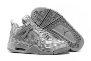 Wholesale Cheap Air Jordan 4 3D Matrix Shoes Cool grey
