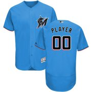 Wholesale Cheap Marlins Personalized Alternate 2019 Authentic Collection Flex Base Blue MLB Jersey (S-3XL)