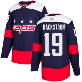 Wholesale Cheap Adidas Capitals #19 Nicklas Backstrom Navy Authentic 2018 Stadium Series Stitched NHL Jersey