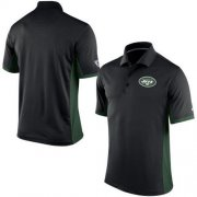 Wholesale Cheap Men's Nike NFL New York Jets Black Team Issue Performance Polo