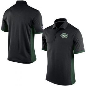 Wholesale Cheap Men\'s Nike NFL New York Jets Black Team Issue Performance Polo