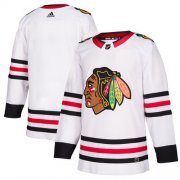 Wholesale Cheap Adidas Blackhawks Blank White Road Authentic Stitched NHL Jersey