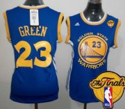 Wholesale Cheap Women's Golden State Warriors #23 Draymond Green Blue 2016 The NBA Finals Patch Jersey