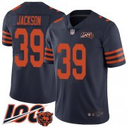Wholesale Cheap Nike Bears #39 Eddie Jackson Navy Blue Alternate Youth Stitched NFL 100th Season Vapor Limited Jersey