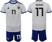 Wholesale Cheap Russia #17 Golovin Away Soccer Country Jersey