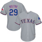 Wholesale Cheap Rangers #29 Adrian Beltre Grey Cool Base Stitched Youth MLB Jersey