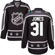 Wholesale Cheap Sharks #31 Martin Jones Black 2017 All-Star Pacific Division Stitched Youth NHL Jersey