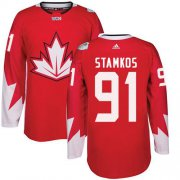 Wholesale Cheap Team Canada #91 Steven Stamkos Red 2016 World Cup Stitched Youth NHL Jersey