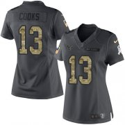 Wholesale Cheap Nike Texans #13 Brandin Cooks Black Women's Stitched NFL Limited 2016 Salute to Service Jersey