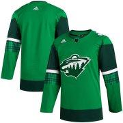 Wholesale Cheap Minnesota Wild Blank Men's Adidas 2020 St. Patrick's Day Stitched NHL Jersey Green.jpg