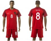 Wholesale Cheap Portugal #8 Silva Home Soccer Country Jersey