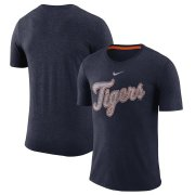 Wholesale Cheap Detroit Tigers Nike Wordmark Tri-Blend T-Shirt Navy