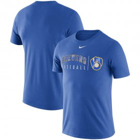 Wholesale Cheap Milwaukee Brewers Nike MLB Practice T-Shirt Royal