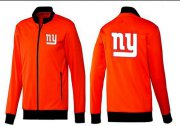Wholesale Cheap NFL New York Giants Team Logo Jacket Orange