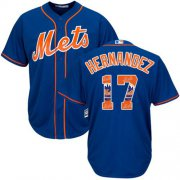 Wholesale Cheap Mets #17 Keith Hernandez Blue Team Logo Fashion Stitched MLB Jersey