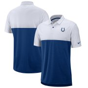 Wholesale Cheap Indianapolis Colts Nike Sideline Early Season Performance Polo White Royal