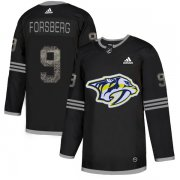 Wholesale Cheap Adidas Predators #9 Filip Forsberg Black Authentic Classic Stitched NHL Jersey