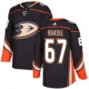 Wholesale Cheap Adidas Ducks #67 Rickard Rakell Black Home Authentic Stitched NHL Jersey