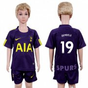 Wholesale Cheap Tottenham Hotspur #19 Dembele Sec Away Kid Soccer Club Jersey