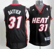 Wholesale Cheap Miami Heat #31 Shane Battier Revolution 30 Swingman Black Jersey