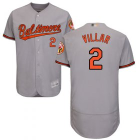 Wholesale Cheap Orioles #2 Jonathan Villar Grey Flexbase Authentic Collection Stitched MLB Jersey
