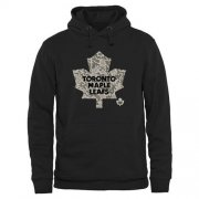Wholesale Cheap Men's Toronto Maple Leafs Black Rink Warrior Pullover Hoodie
